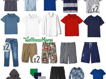 Boys capsule wardrobe for sping and summer
