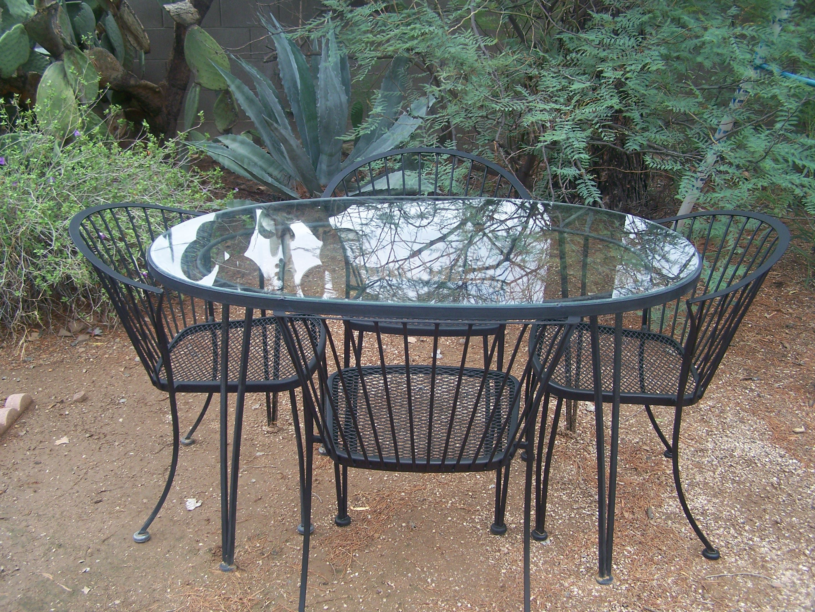 1950u0027s Woodard Pinecrest Patio Table And 4 Chairs $550 On Ebay