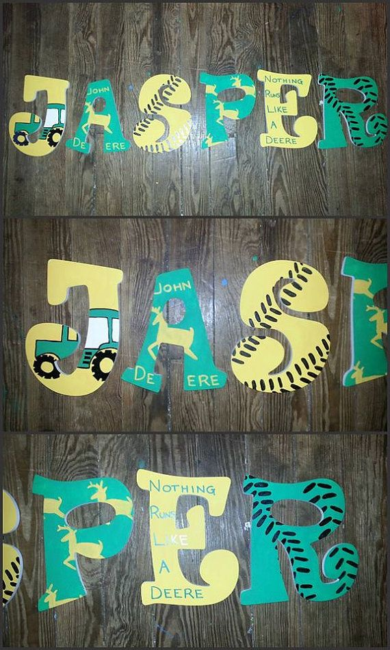 painted wooden letters deere themed painted wooden letters by 23887 | 94ee06ee0471f19b7ddfe3a634cf7615