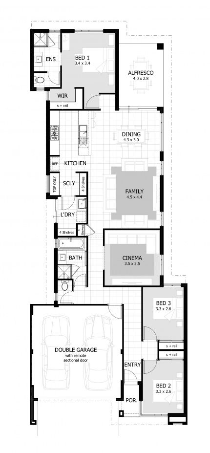 3 Bedroom Floor Plan 10m Width 192sqm Area Painting Bathroom Interior Paint Colors Interior Paint