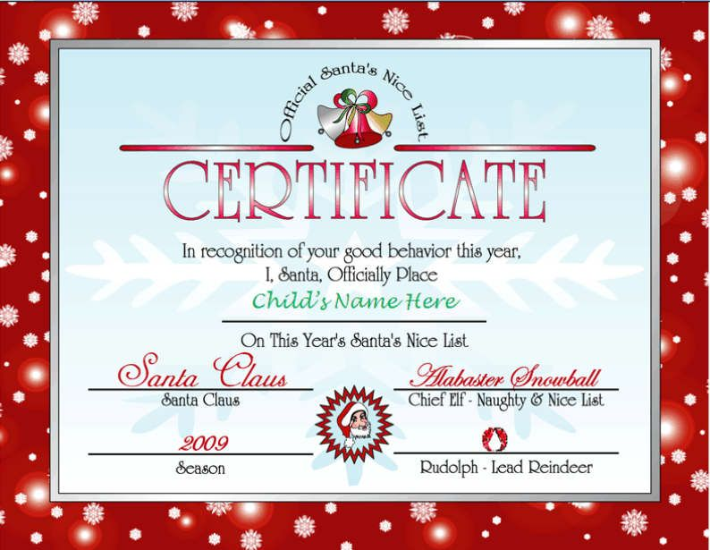 Letter santa elfi give your child an unforgettable treat with a printable letter from santa and nice list certificate other files patterns and templates spiritdancerdesigns Images