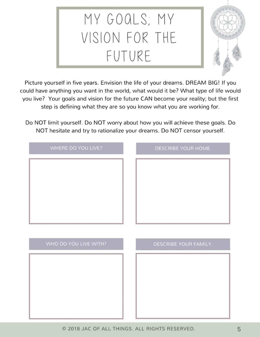 10 Goals List Template Free Printable Di