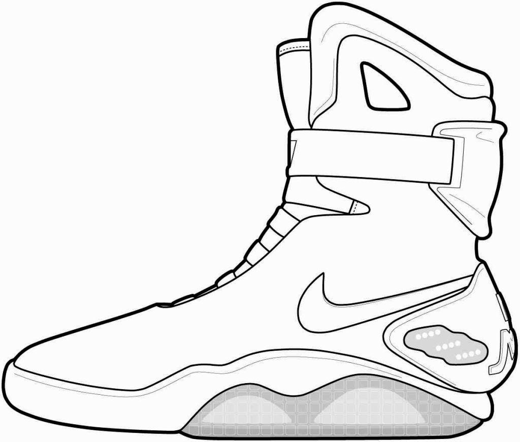 Jordan Coloring Sheets Sneakers drawing, Shoe template