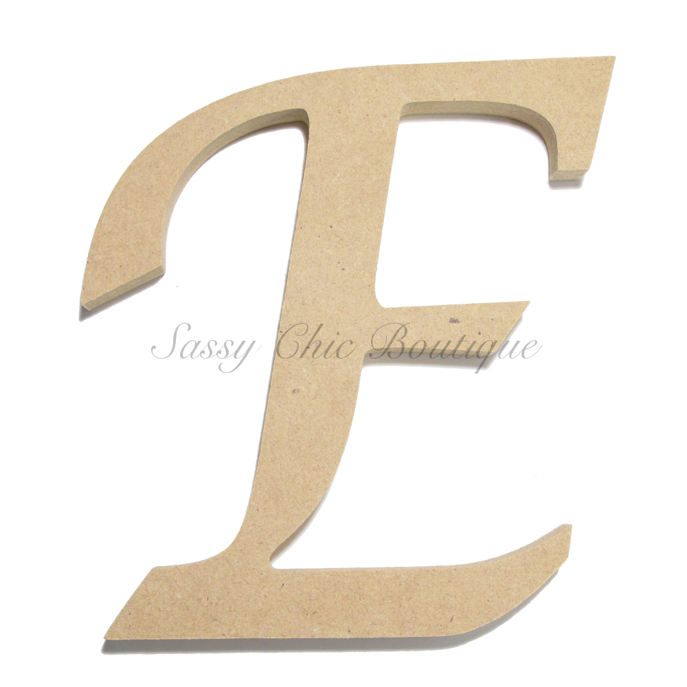 Unfinished wooden uppercase letter e lucida Lucida calligraphy free