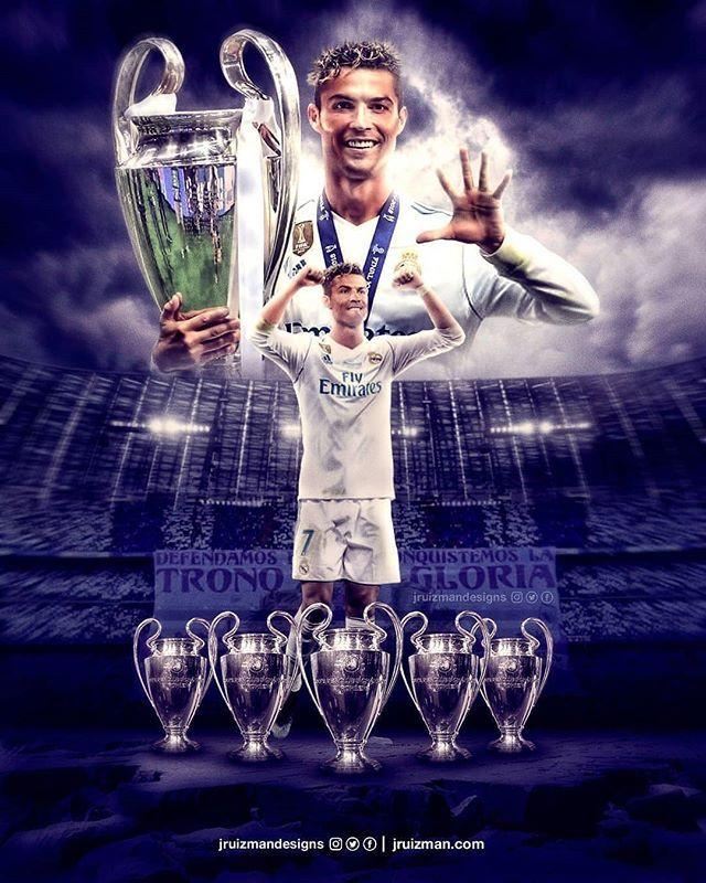 Cr7 5 champions league
