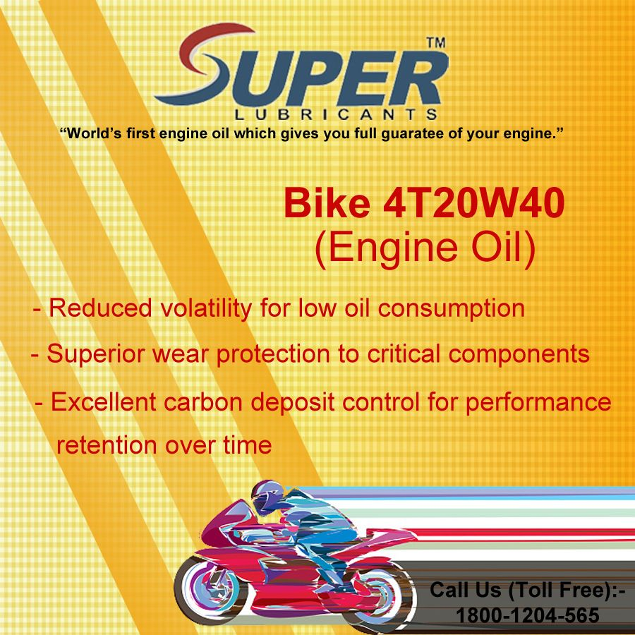 Bike 4t20w40 Engine Oil Engineering Protection Lubricants