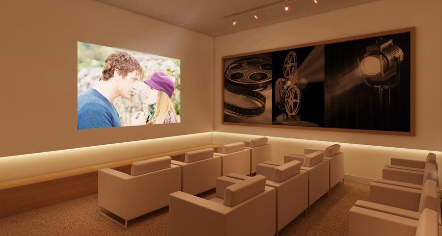 Perspectiva Artística da sala de cinema