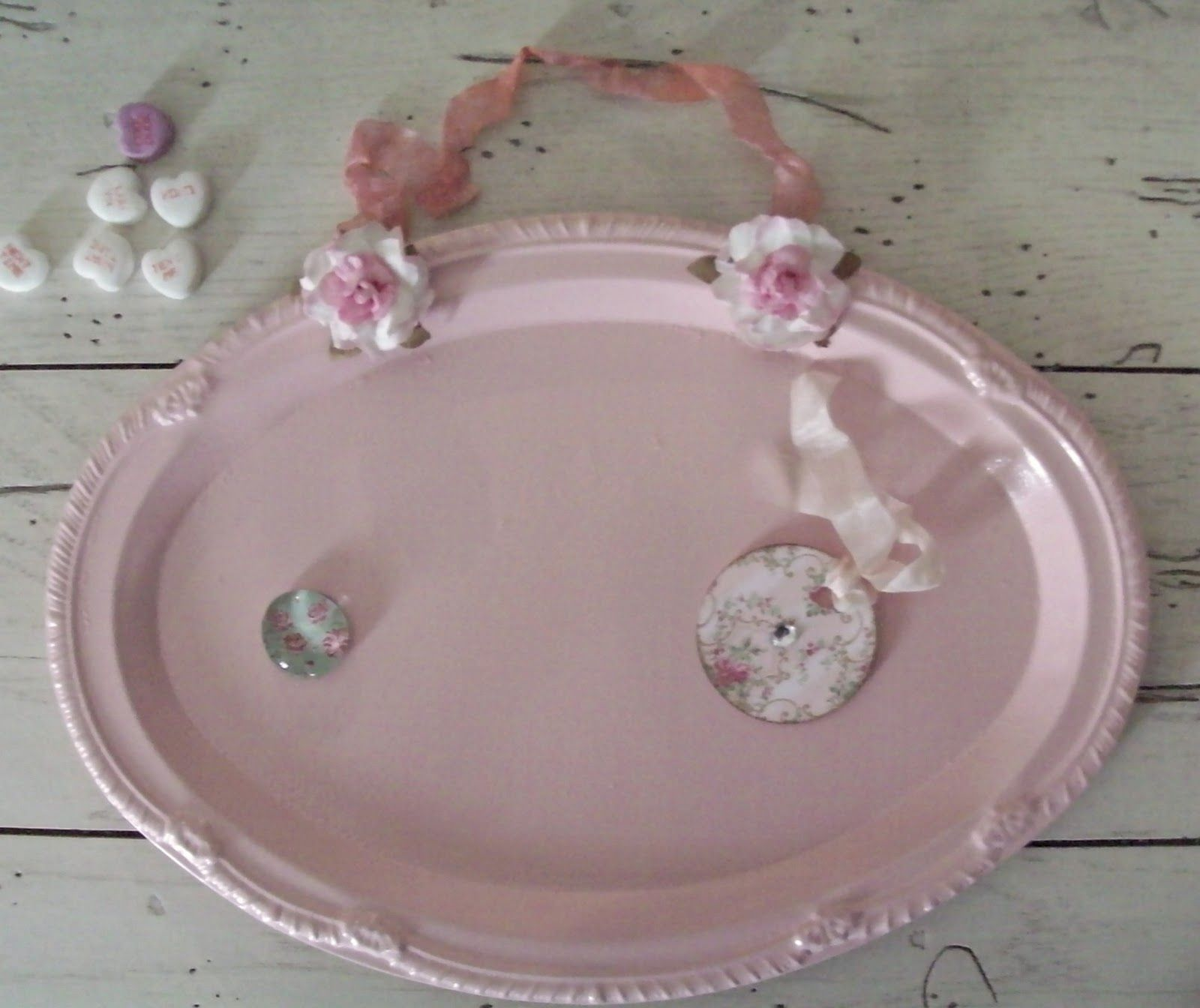 Repurpose Old Silver Trays Google Search Diy Shabby Chic Crafts Shabby Chic Pink