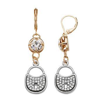 Juicy Couture Lock Drop Earrings Kohls