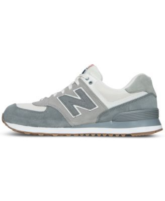 bf1af39eadc896 New Balance Men s 574 Retro Sport Casual Sneakers from Finish Line - Gray  10.5