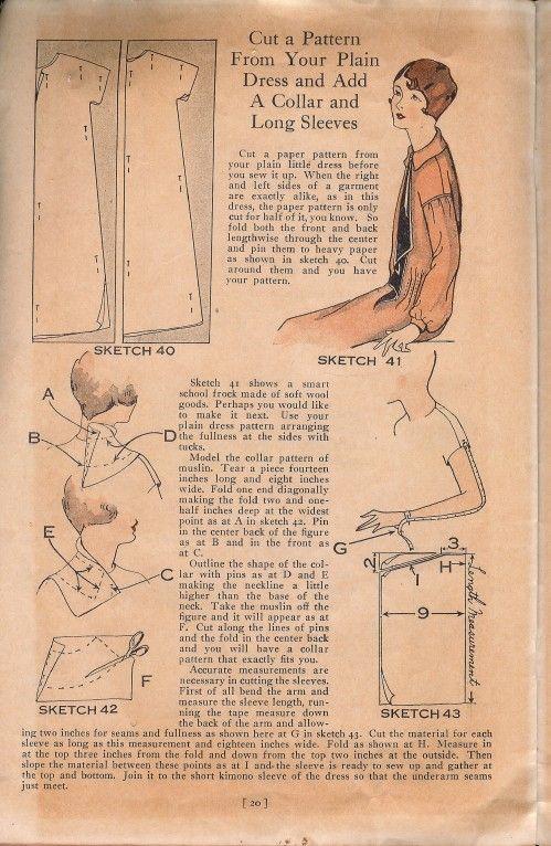 1920s Dress Pattern | patterns & tutorials: 1920\'s | Pinterest ...