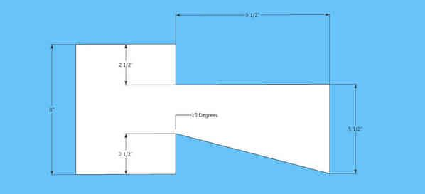 Log Cabin Dovetail Drawing | Note: If you make the template using the measurements above, the angle ...