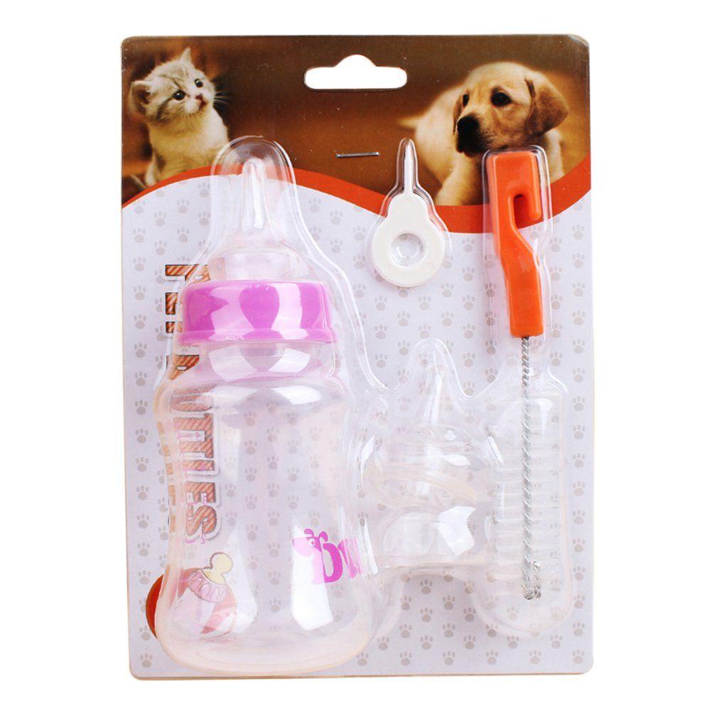 Yinrunx Puppy Kitten Feeding Bottle 150ml And 60ml Pet Nursing Feeding Bottle With Cleaning Brush Kit For Dog Puppy Cat 150ml A Frame Store Nursing Supplies Cat Feeding