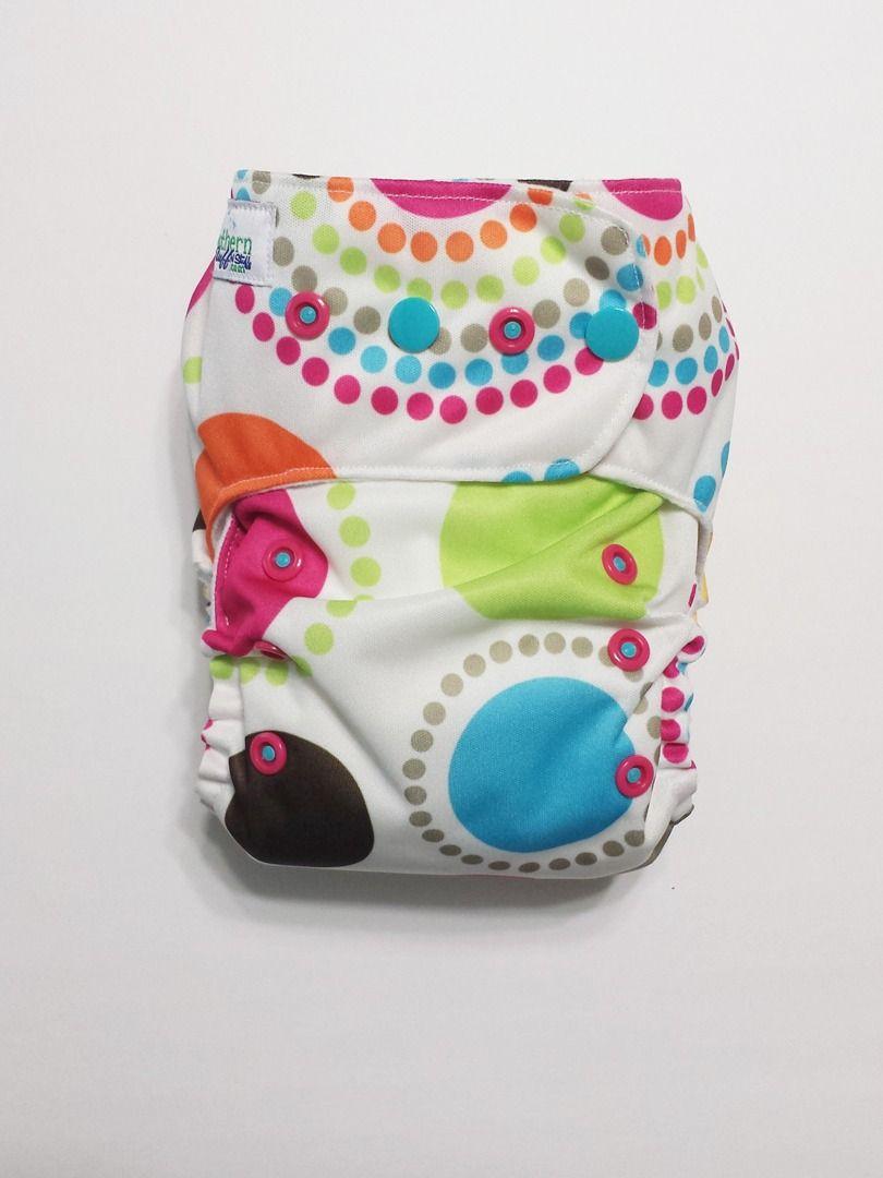Lots O' Dots Pocket Diaper $18 #clothdiaper #pocketdiaper #wahm #dots #twister #clothdiapers