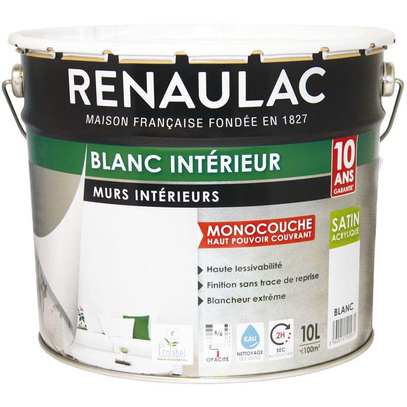 Peinture Intérieur Blanc Satin Murs Plafonds Monocouche