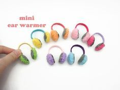DIY Miniature Doll Mini Ear Warmer - Easy! #miniaturedolls