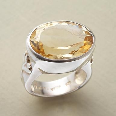 Love this bold citrine ring!