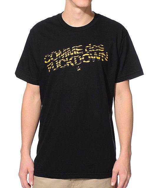 SSUR Comme Des Fuck Down black tiger t-shirt. Lollerskates! I need this!