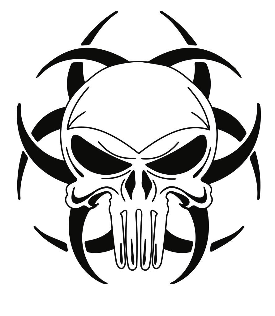 simple skull drawings - HD889×1024
