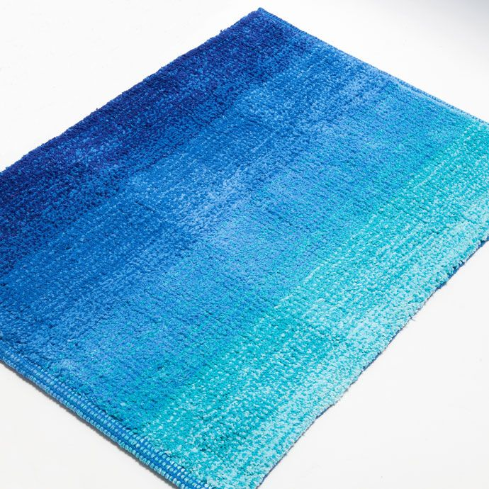 Blue OmbrÉ Effect Bath Mat Bathmats