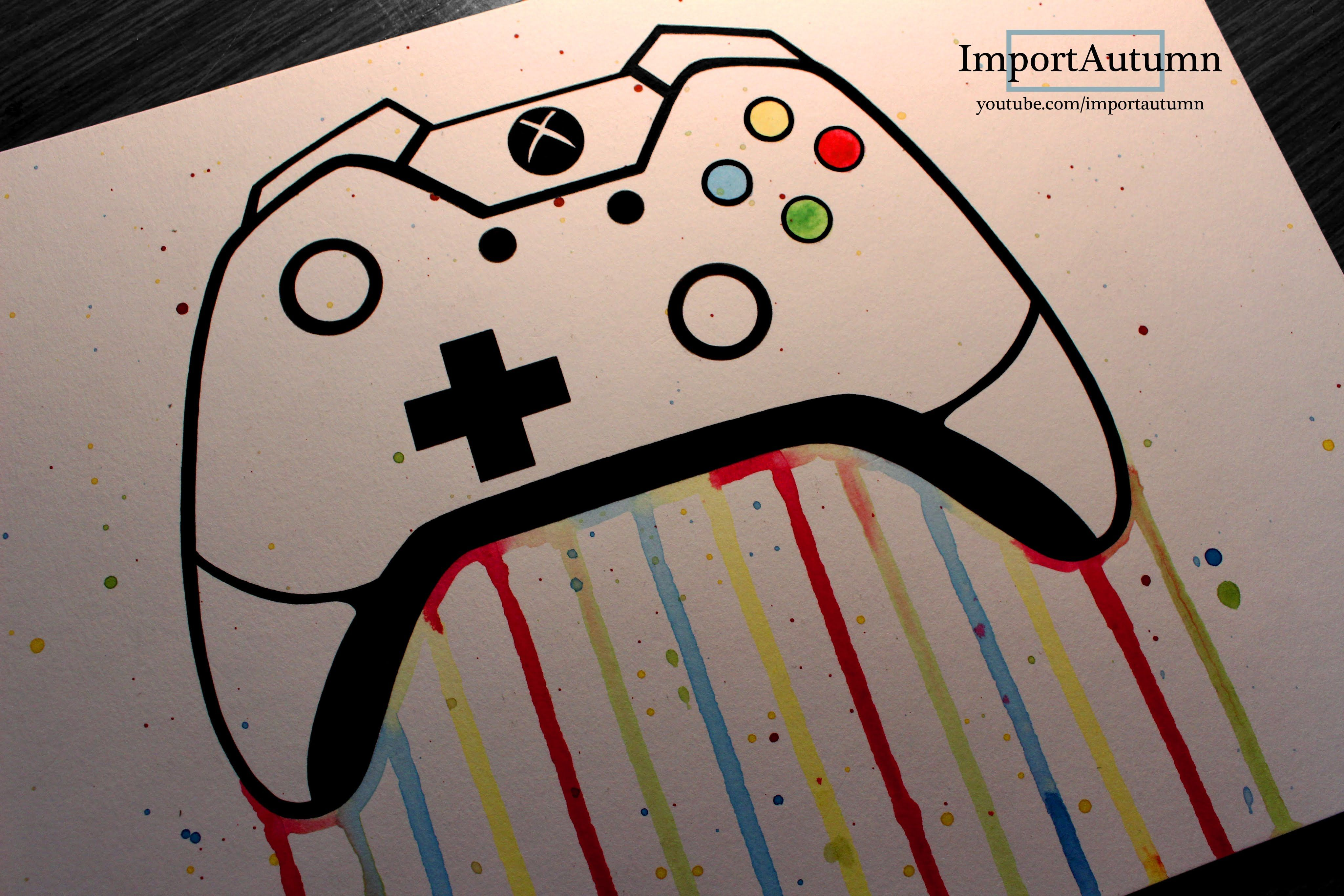 D Line Drawings Xbox One : Drawing an xbox one remote controller watch me draw it on