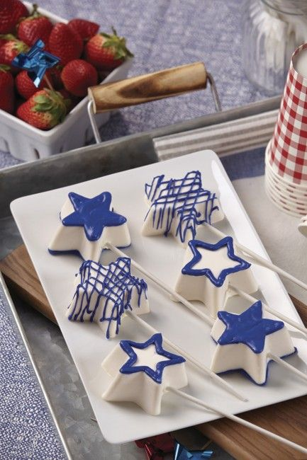 No Bake Cheesecake Star Pops These Festive Star Pops Are