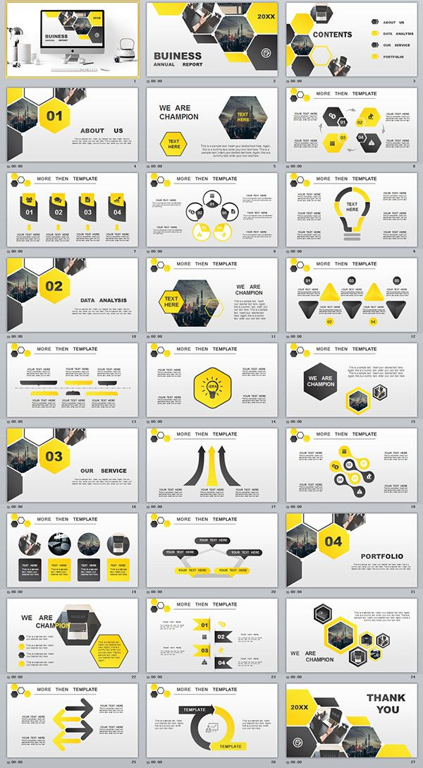27 yellow business annual plan powerpoint template powerpoint templates presentation