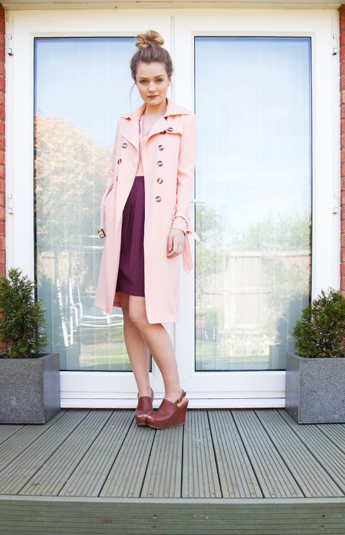 Tiny Twisst - Candy Pink Trench Coat - Read More: http://www.tinytwisst.com/2014/05/candy-pink-trench-coat.html