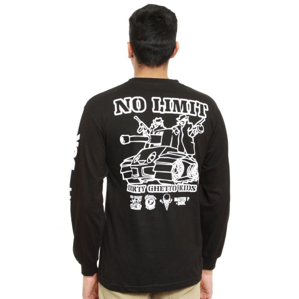 Black t shirt ebay - Dgk Men S X No Limit 8 Ball Long Sleeve Shirt Black Lifestyle Skate Streetwear
