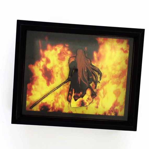 Final Fantasy Seven Shadow Box - Playstation Classic Video Game ...