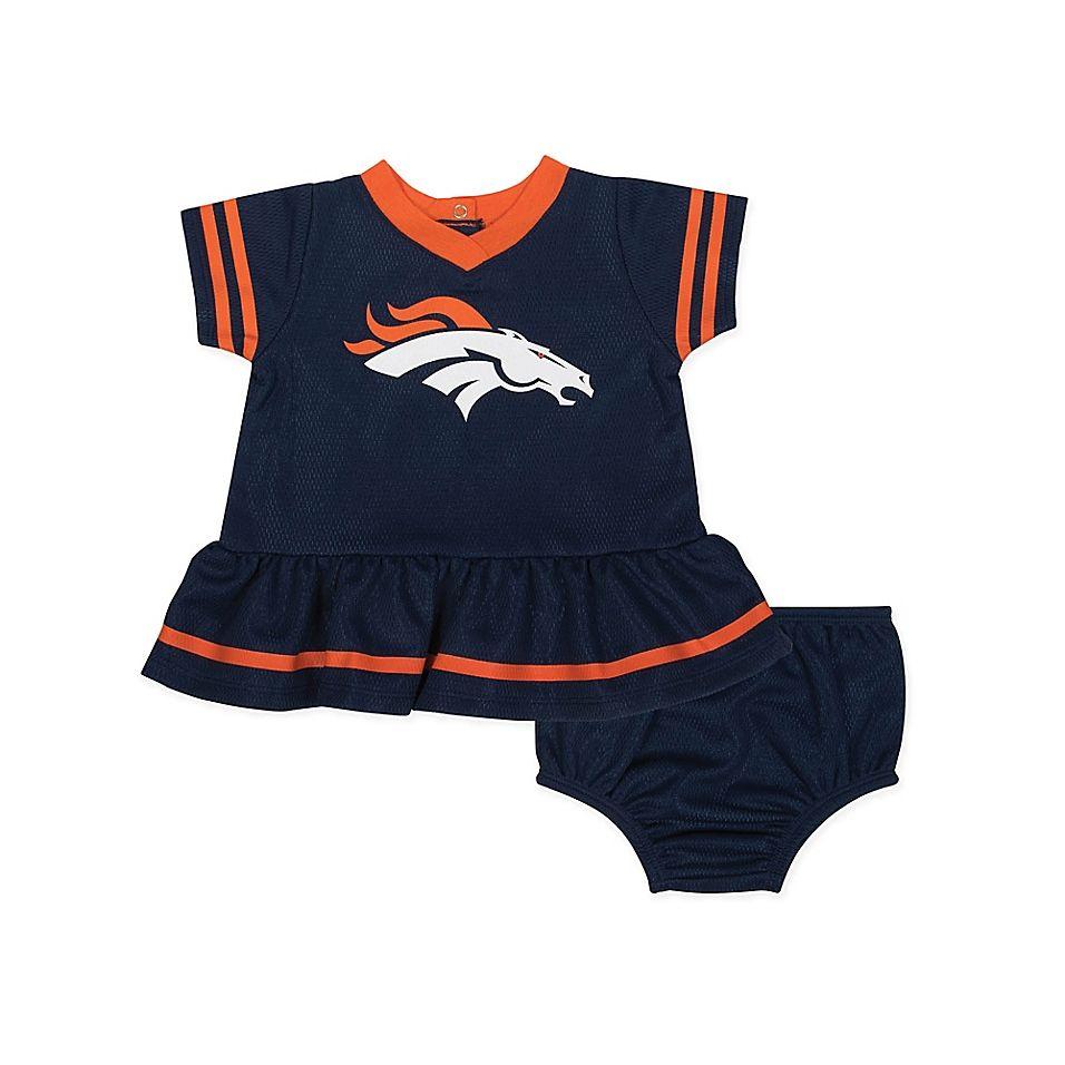 Nfl Denver Broncos Size 6-12M Girls Dazzle Dress With Panty Set