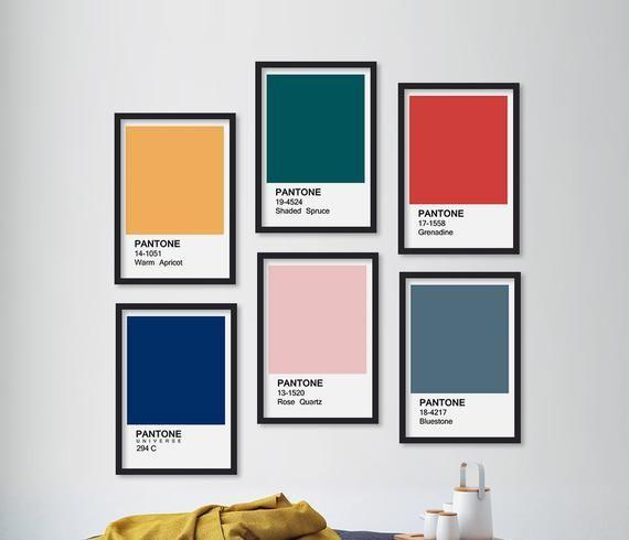 Pantone Custom Pantone Poster Pantone Print | Etsy in 2020 ...