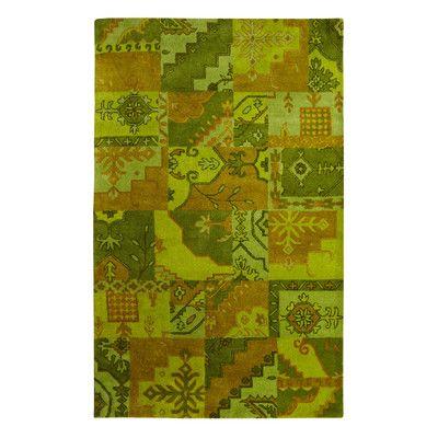 Dynamic Rugs Utopia Green/Brown Area Rug Rug Size: 8' x 11'
