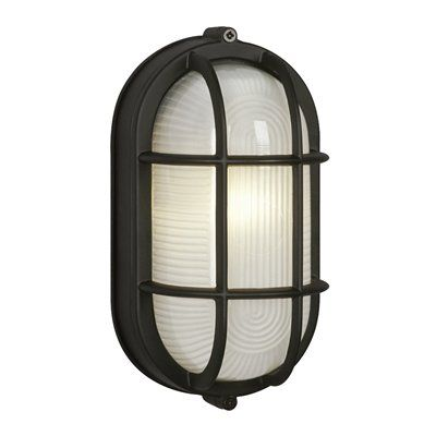 Galaxy Marine 8 375 In Black Caged Frosted Glass Outdoor Wall Light Outdoor Wall Lighting Outdoor Wall Light Fixtures Wall Lights