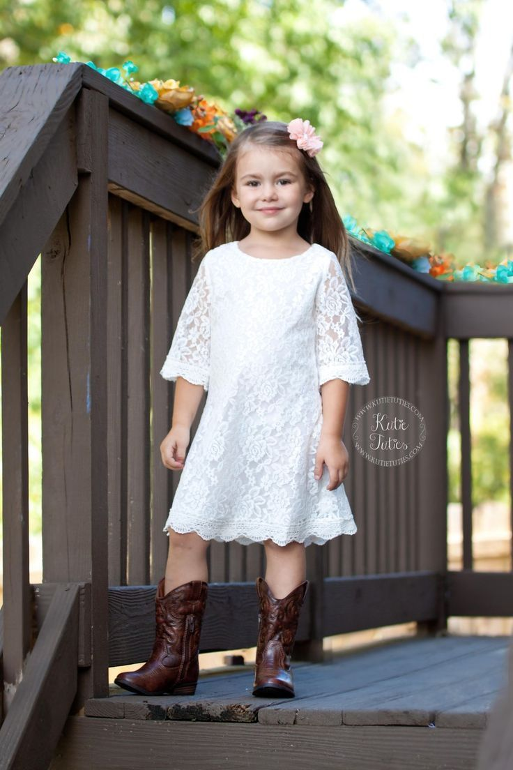 Flower girl in boots rustic flowergirl cowboyboots