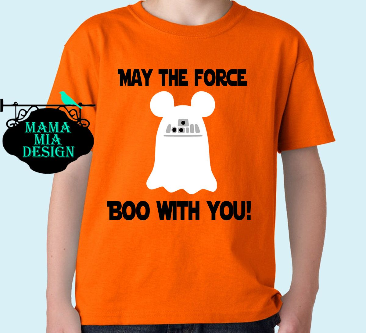 """Disney Halloween Shirt, """"May the force boo with you"""