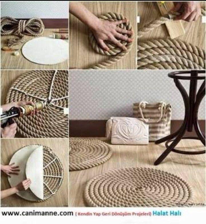 Sisal Rope Crafts Diy Room Decor Simple