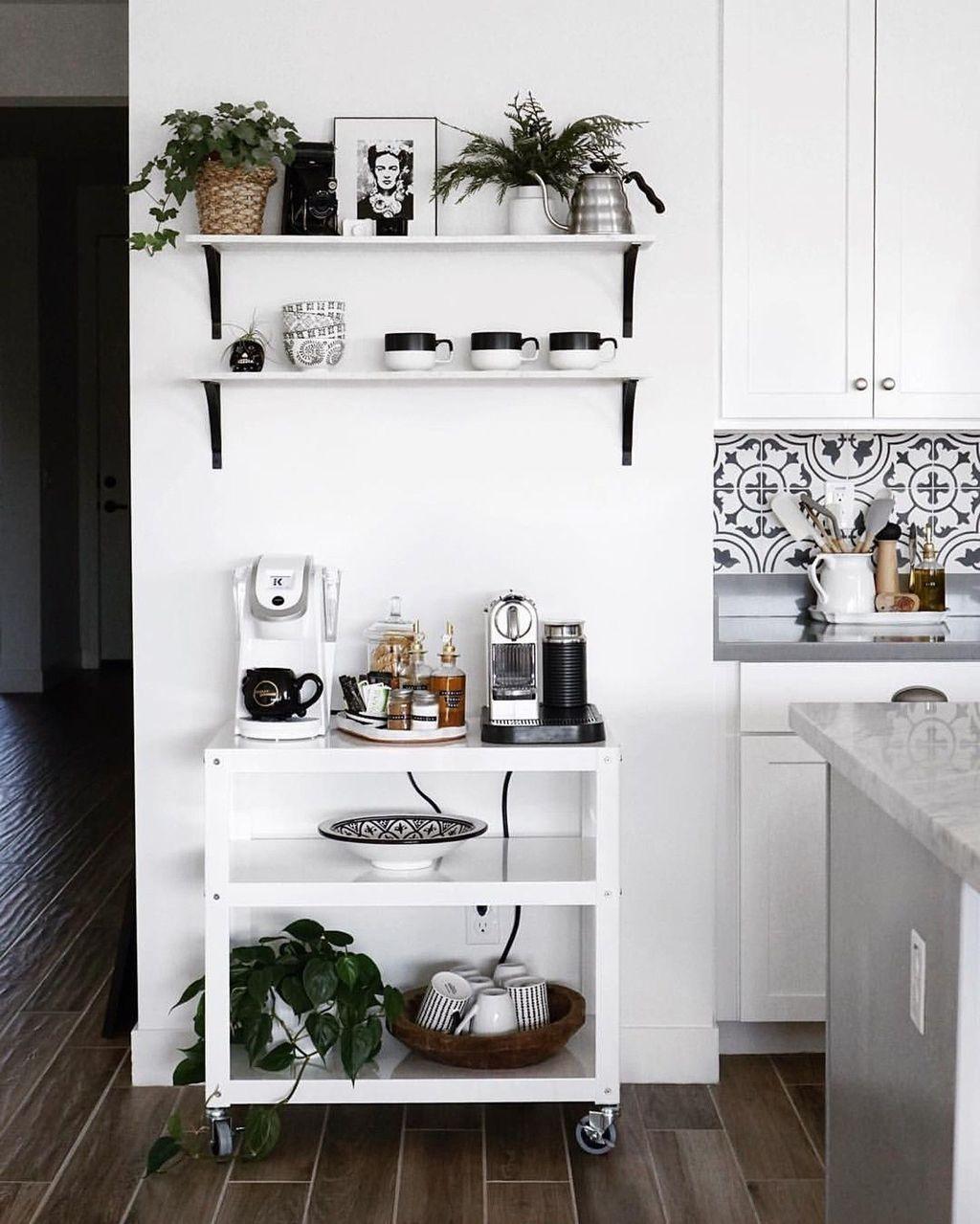 30+ Fantastic DIY Coffee Bar Ideas For Your Home #coffeebarideas