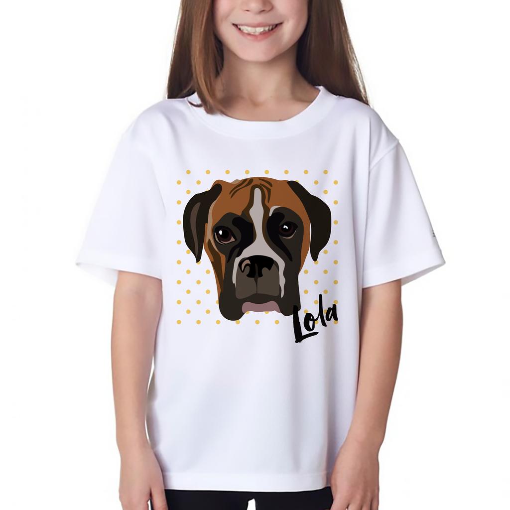 Kids custom pet t shirt Barley & Bayley Pinterest