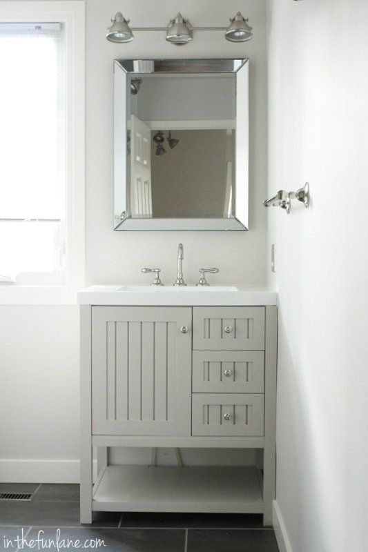 Vanity Hardware And Mirror From Home Depot Small Bathroom