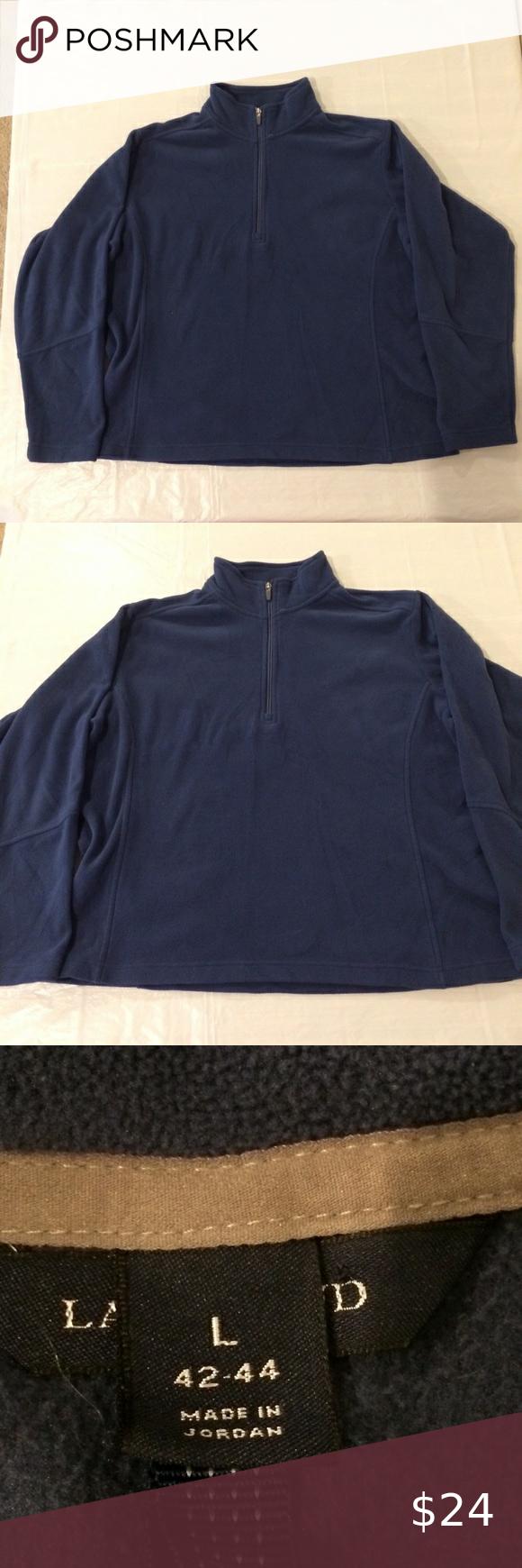 Lands End Polartec Fleece Sweatshirt Jacket Mens L Measurements In Photos Lands End Jackets Coats Boho Leather Jacket Wool Sweaters Womens Pullover Men [ 1740 x 580 Pixel ]