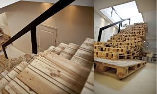 Wie Man Treppen Mit Paletten Bauen Treppen Pinterest Pallet