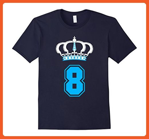 Mens 8 Year Old Birthday T Shirt Perfect Gift For Kids Boys Small Navy