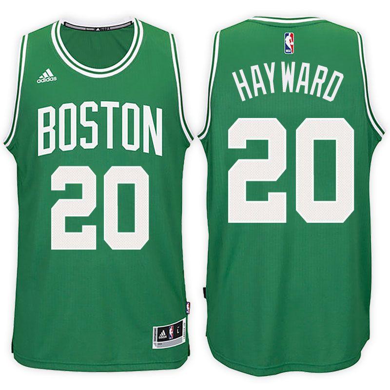 "438267ea3ac ""Boston Celtics  20 Gordon Hayward Road Green New Swingman Jersey   21"""