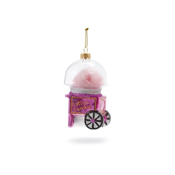 Vintage Cotton Candy Machine Glass Ornament 21 Liked On Polyvore Featuring Home