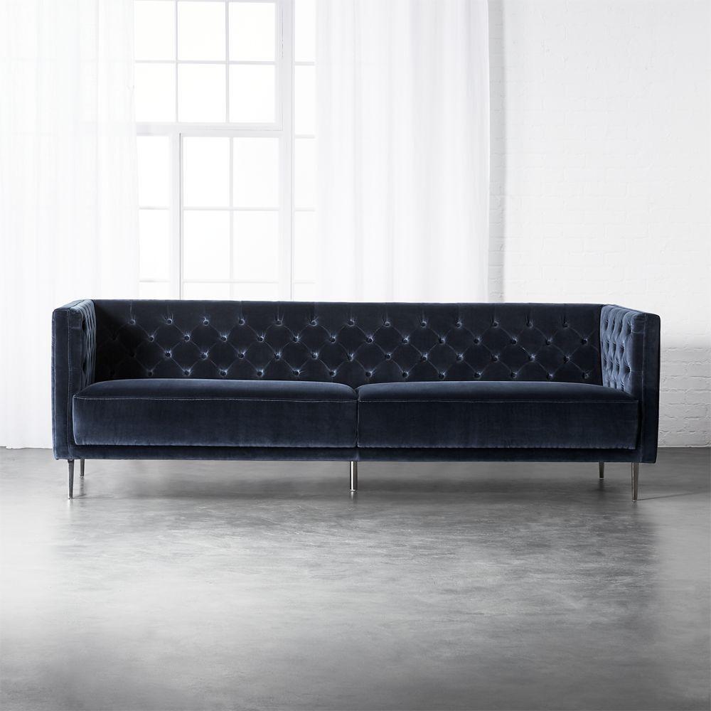 Cool Cb2 October Catalog 2018 Savile Midnight Blue Velvet Pdpeps Interior Chair Design Pdpepsorg