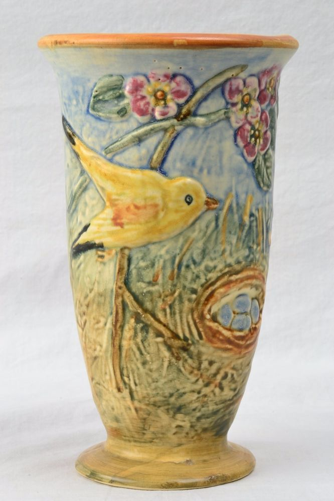 Weller Pottery Vase 1920s Glendale Vase China Art Weller