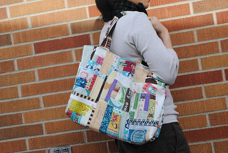 """1/4"""" mark: Patchwork tote"""