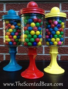 mason jar candy buffet - Google Search - Crafting Intent #masonjarcrafts