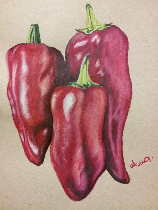 Color pencil Peppers